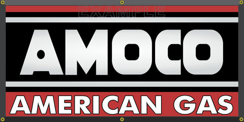 AMOCO AMERICAN GAS GASOLINE GAS STATION VINTAGE OLD SCHOOL SIGN REMAKE BANNER SIGN ART MURAL 2' X 4'/3' X 6'