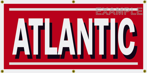 ATLANTIC OIL GAS STATION VINTAGE OLD SCHOOL SIGN REMAKE BANNER SIGN ART MURAL 2' X 4'/3' X 6'