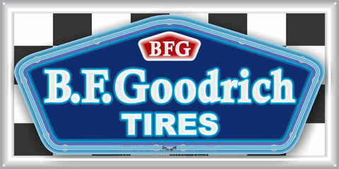 BF GOODRICH TIRES SALES SERVICE STATION AUTOMOBILES DEALER OLD SIGN REMAKE ALUMINUM CLAD SIGN VARIOUS SIZES