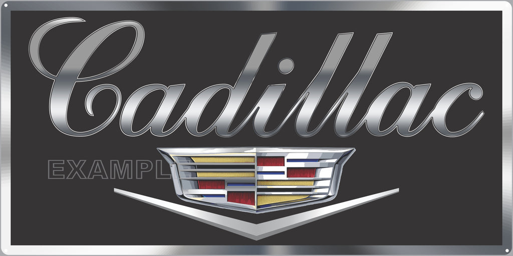 CADILLAC EMBLEM CARS AUTOMOBILES DEALER SALES OLD SIGN REMAKE ALUMINUM CLAD SIGN VARIOUS SIZES