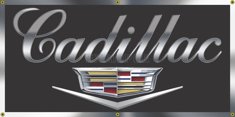 CADILLAC EMBLEM DEALER SALES SERVICE OLD SCHOOL SIGN REMAKE BANNER SIGN ART MURAL 2' X 4'/3' X 6'
