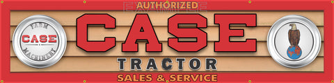 "CASE TRACTOR FARM MACHINERY DEALER LETTER SIGN REMAKE BANNER ART MURAL 24"" x 96"""