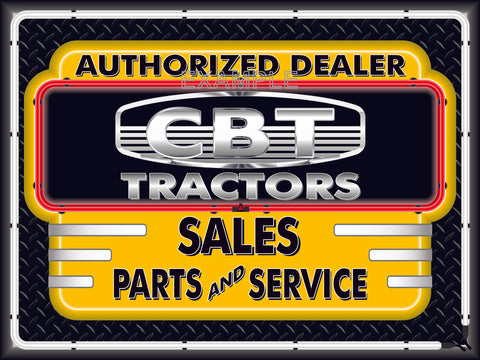 CBT TRACTORS DEALER STYLE SIGN SALES SERVICE PARTS TRACTOR REPAIR SHOP REMAKE BANNER 3' X 4'
