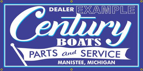 CENTURY BOATS VINTAGE OLD SCHOOL SIGN REMAKE BANNER SIGN ART MURAL 2' X 4'/3' X 6'
