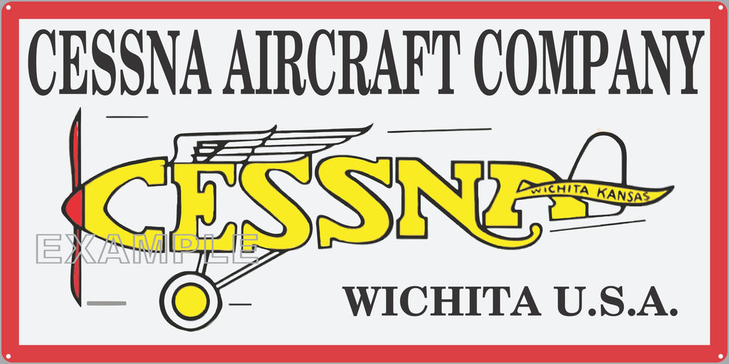 CESSNA AIRCRAFT COMPANY DEALER SALES OLD SIGN REMAKE ALUMINUM CLAD SIGN VARIOUS SIZES