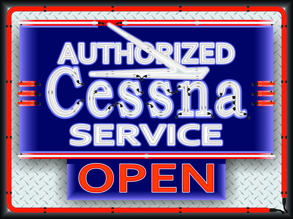 Cessna Aircraft Airplane Aviation Dealer Marquee Neon