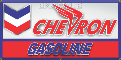 CHEVRON GASOLINE GAS STATION VINTAGE OLD SCHOOL SIGN REMAKE BANNER SIGN ART MURAL 2' X 4'/3' X 6'