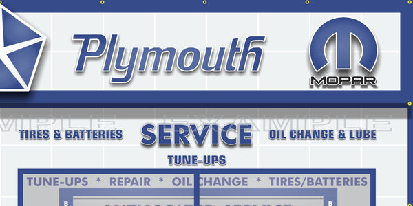 CHRYSLER PLYMOUTH MOPAR SALES PARTS SERVICE DEALERSHIP RETRO SCENE WALL MURAL SIGN BANNER GARAGE ART VARIOUS SIZES