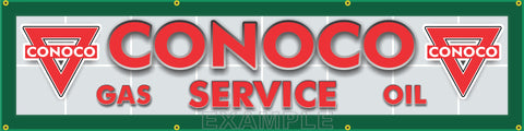"CONOCO GAS SERVICE STATION MAIN LETTER SIGN REMAKE BANNER ART MURAL 24"" x 96"""