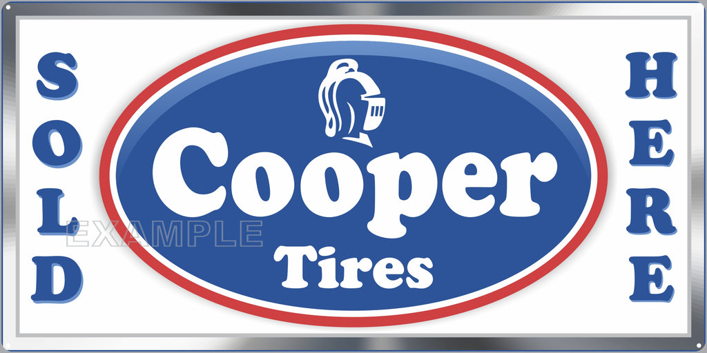COOPER TIRES SALES SERVICE STATION AUTOMOBILES DEALER OLD SIGN REMAKE ALUMINUM CLAD SIGN VARIOUS SIZES
