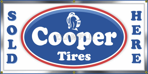 COOPER TIRES GAS STATION AUTO SERVICE OLD SCHOOL SIGN REMAKE BANNER SIGN ART MURAL 2' X 4'/3' X 6'
