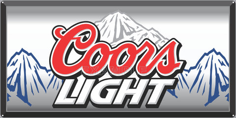 COORS LIGHT BEER BAR PUB TAVERN OLD SIGN REMAKE ALUMINUM CLAD SIGN VARIOUS SIZES