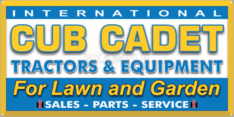 CUB CADET TRACTORS INTERNATIONAL LAWN AND GARDEN DEALER OLD SIGN REMAKE ALUMINUM CLAD SIGN VARIOUS SIZES
