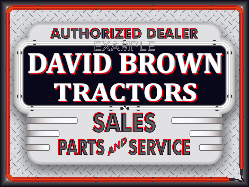 DAVID BROWN TRACTORS DEALER STYLE SIGN SALES SERVICE PARTS TRACTOR REPAIR SHOP REMAKE BANNER 3' X 4'