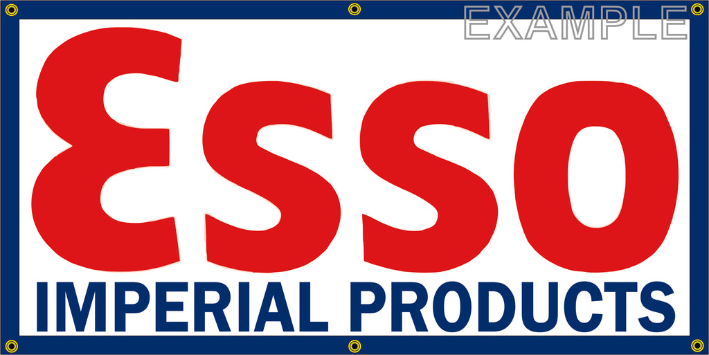 ESSO IMPERIAL OIL PRODUCTS GAS STATION VINTAGE OLD SCHOOL SIGN REMAKE BANNER SIGN ART MURAL 2' X 4'/3' X 6'