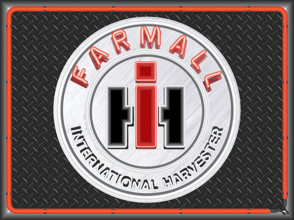 FARMALL INTERNATIONAL HARVESTER Neon Effect Sign Printed Banner 4' x 3'