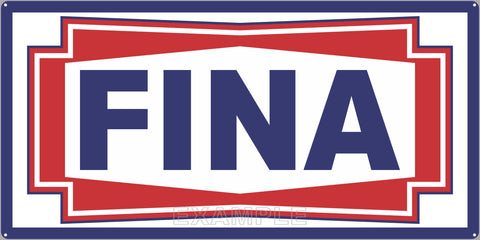 FINA GAS STATION SERVICE GASOLINE OLD SIGN REMAKE ALUMINUM CLAD SIGN VARIOUS SIZES