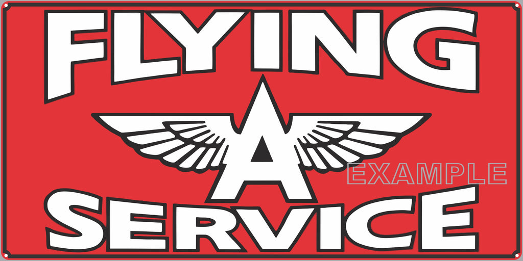 FLYING A GAS STATION SERVICE GASOLINE OLD SIGN REMAKE ALUMINUM CLAD SIGN VARIOUS SIZES