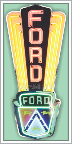 FORD JUBILEE AUTOMOBILE EMBLEM OLD SIGN REMAKE ALUMINUM CLAD SIGN VARIOUS SIZES