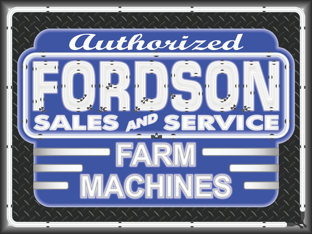 FORDSON TRACTORS DEALER STYLE SIGN SALES SERVICE PARTS TRACTOR REPAIR SHOP REMAKE BANNER 3' X 4'