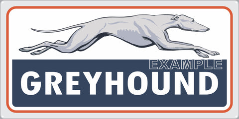 GREYHOUND BUS LINES TERMINAL STATION TRANSPORTATION OLD SIGN REMAKE ALUMINUM CLAD SIGN VARIOUS SIZES