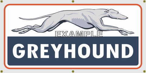 GREYHOUND BUS LINES DEPOT VINTAGE OLD SCHOOL SIGN REMAKE BANNER SIGN ART MURAL 2' X 4'/3' X 6'