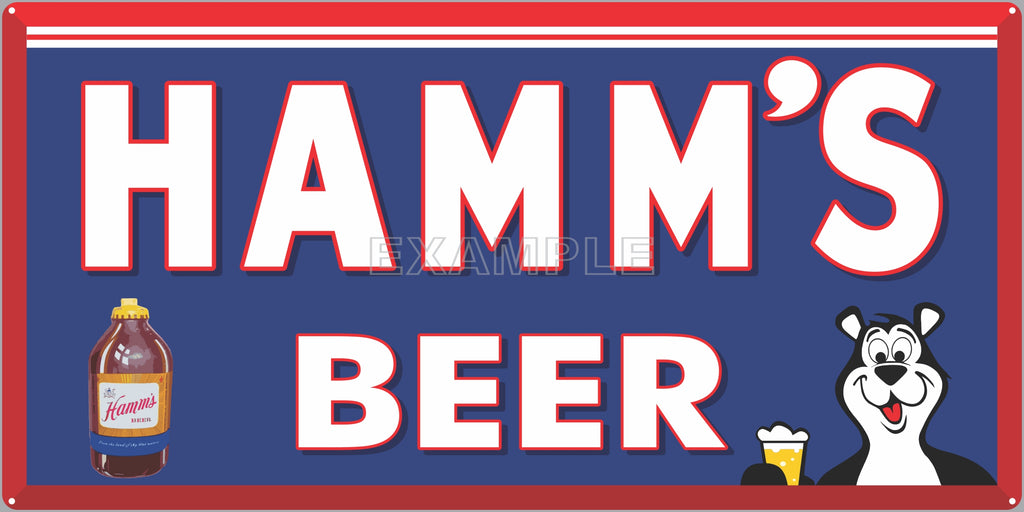 HAMM'S BEER BAR PUB TAVERN OLD SIGN REMAKE ALUMINUM CLAD SIGN VARIOUS SIZES
