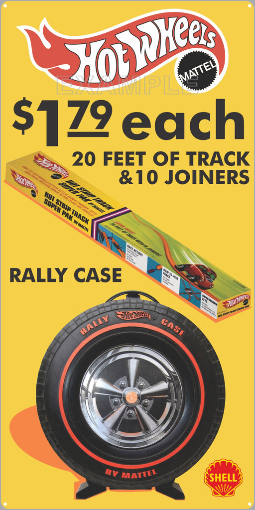 SHELL GAS STATION HOT WHEELS TRACK PACK RALLY CASE OLD SIGN REMAKE ALUMINUM CLAD SIGN VARIOUS SIZES