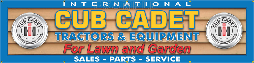 "INTERNATIONAL CUB CADET LAWN TRACTOR DEALER LETTER SIGN REMAKE BANNER 24"" x 96"""