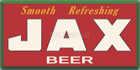 JAX BEER BAR PUB TAVERN OLD SIGN REMAKE ALUMINUM CLAD SIGN VARIOUS SIZES
