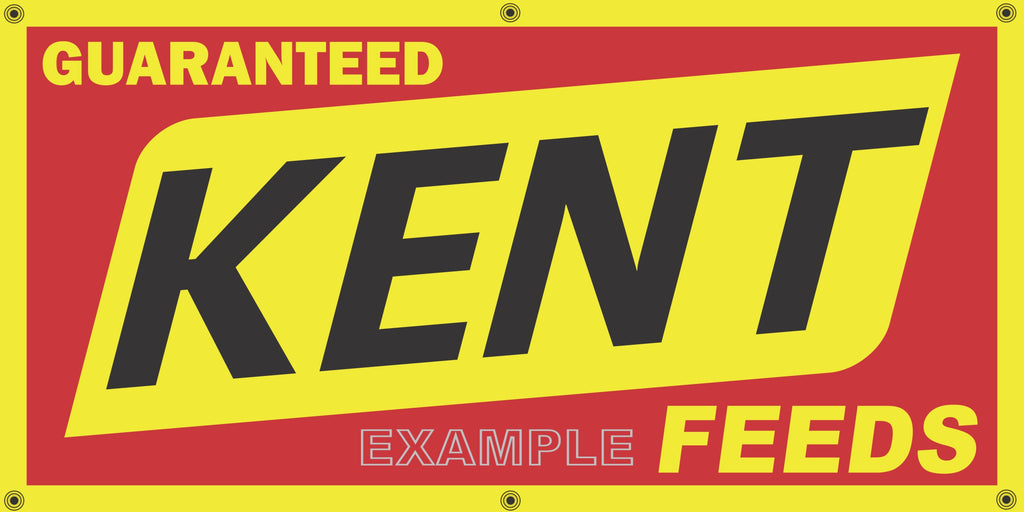 KENT FEEDS FARM SUPPLY VINTAGE OLD SCHOOL SIGN REMAKE BANNER SIGN ART MURAL 2' X 4'/3' X 6'