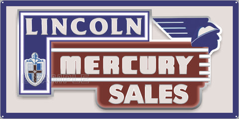LINCOLN MERCURY SERVICE DEALER AUTOMOTIVE SALES REPAIR OLD SIGN REMAKE ALUMINUM CLAD SIGN VARIOUS SIZES