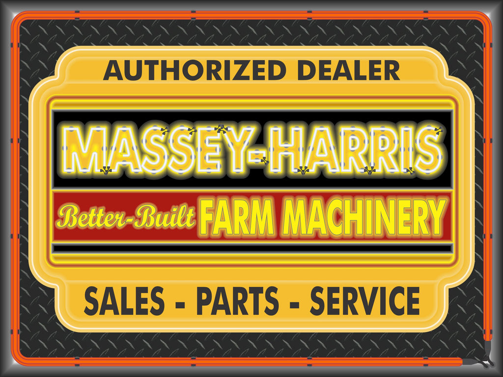 MASSEY HARRIS TRACTORS DEALER STYLE SIGN SALES SERVICE PARTS TRACTOR REPAIR SHOP REMAKE BANNER 3' X 4'