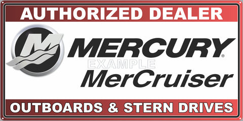 MERCRUISER SIGN NEW DESIGN OUTBOARDS STERN DRIVES AUTHORIZED DEALER BOAT MARINE WATERCRAFT OLD SIGN REMAKE ALUMINUM CLAD SIGN VARIOUS SIZES