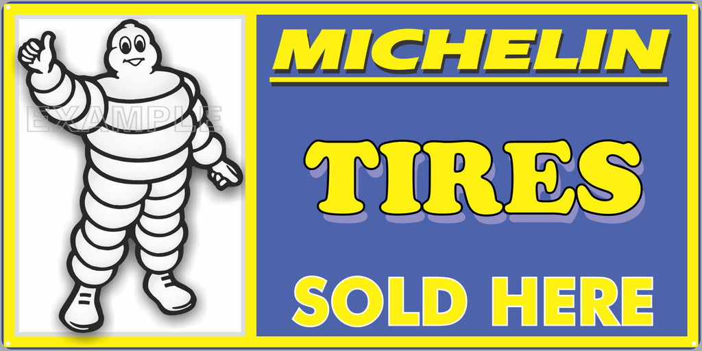 MICHELIN MAN TIRES DEALER SALES OLD SIGN REMAKE ALUMINUM CLAD SIGN VARIOUS SIZES
