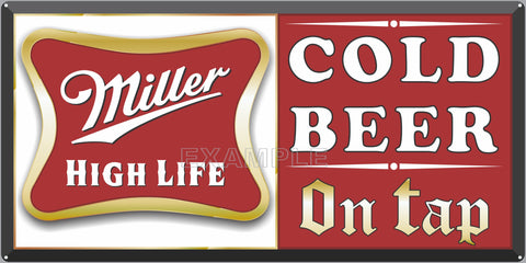 MILLER HIGH LIFE BEER BAR PUB TAVERN OLD SIGN REMAKE ALUMINUM CLAD SIGN VARIOUS SIZES