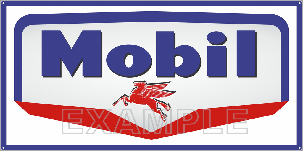 MOBIL MID LOGO RED WHITE BLUE PEGASUS GAS STATION SERVICE GASOLINE OLD SIGN REMAKE ALUMINUM CLAD SIGN VARIOUS SIZES