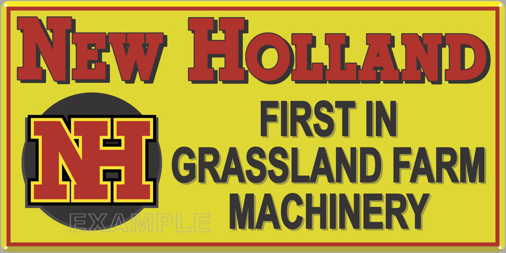NEW HOLLAND TRACTORS FARM DEALER OLD SIGN REMAKE ALUMINUM CLAD SIGN VARIOUS SIZES