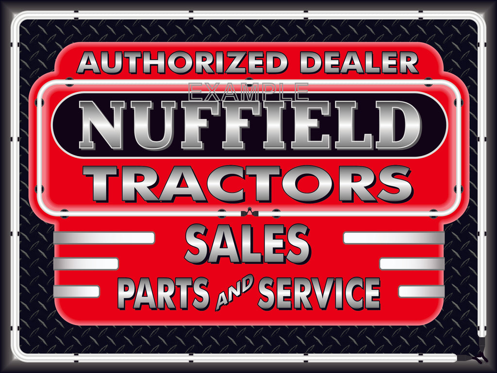 NUFFIELD TRACTORS DEALER STYLE SIGN SALES SERVICE PARTS TRACTOR REPAIR SHOP REMAKE BANNER 3' X 4'