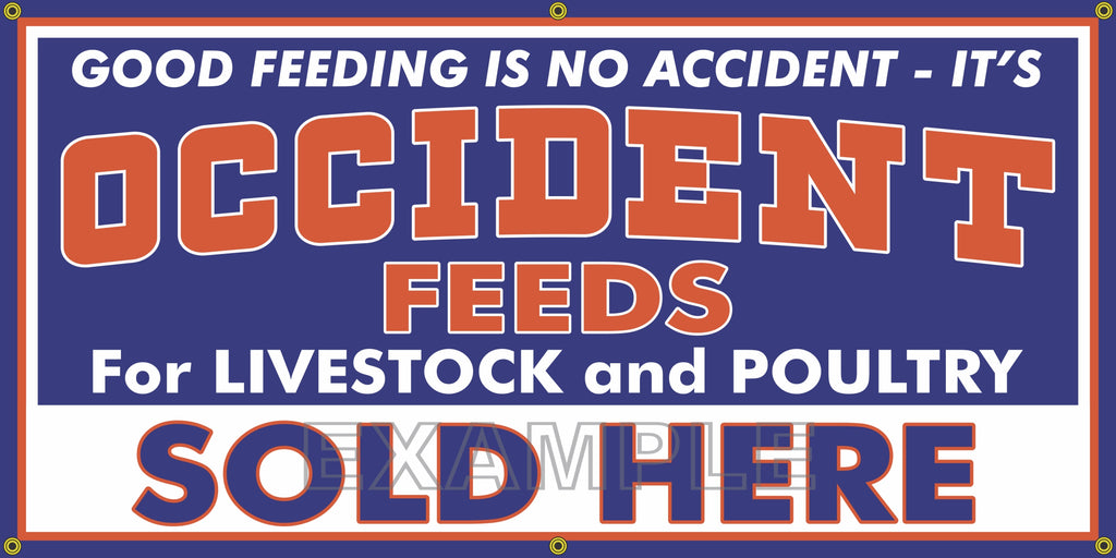 OCCIDENT FEEDS FARM FEED STORE VINTAGE OLD SCHOOL SIGN REMAKE BANNER SIGN ART MURAL VARIOUS SIZES