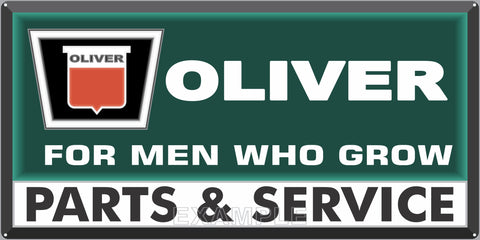 OLIVER TRACTORS KEYSTONE LOGO SALES DEALER OLD SIGN REMAKE ALUMINUM CLAD SIGN VARIOUS SIZES