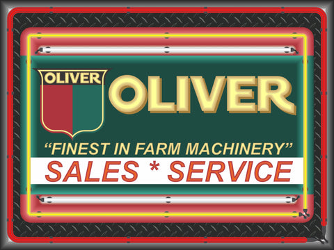 Garage Man Cave Sign Oliver Tractor Finest In Farm Machinery Banner2 Classic