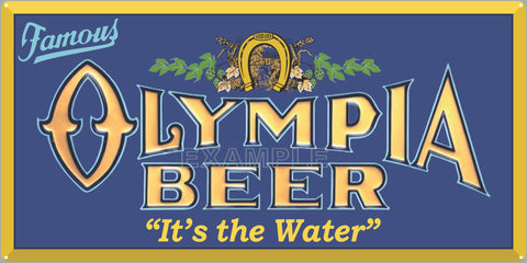 OLYMPIA BEER BAR PUB TAVERN OLD SIGN REMAKE ALUMINUM CLAD SIGN VARIOUS SIZES