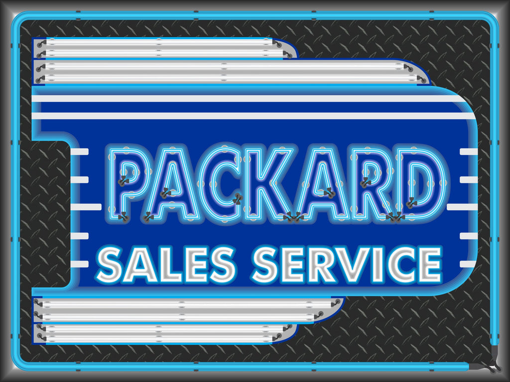 Packard Car Sales Service Dealer Old Remake Marquee Neon