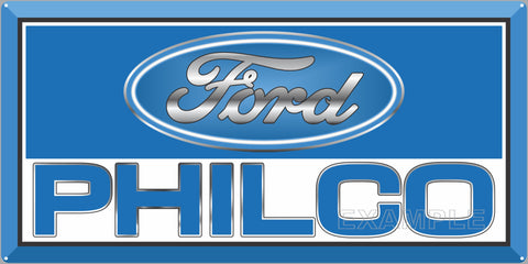 FORD PHILCO ELECTRONIC SERVICE CENTER STATION AUTOMOBILE REPAIR DEALER OLD SIGN REMAKE ALUMINUM CLAD SIGN VARIOUS SIZES
