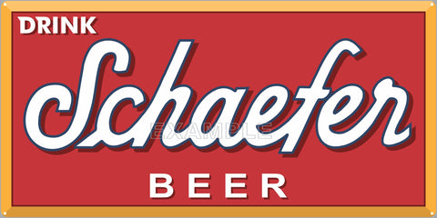 SCHAEFER BEER BAR PUB TAVERN OLD SIGN REMAKE ALUMINUM CLAD SIGN VARIOUS SIZES
