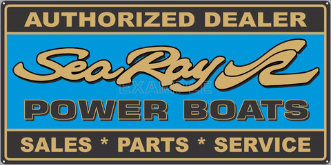 SEA RAY BOATS MARINE WATERCRAFT OLD SIGN REMAKE ALUMINUM CLAD SIGN VARIOUS SIZES