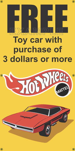 SHELL GAS STATION FREE HOT WHEELS CAR OLD SCHOOL SIGN REMAKE BANNER ART VARIOUS SIZES
