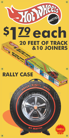 SHELL GAS STATION HOT WHEELS TRACK PACK RALLY CASE REMAKE BANNER ART VARIOUS SIZES