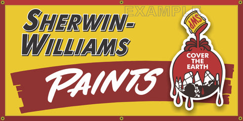 SHERWIN WILLIAMS PAINT STORE VINTAGE OLD SCHOOL SIGN REMAKE BANNER SIGN ART MURAL VARIOUS SIZES